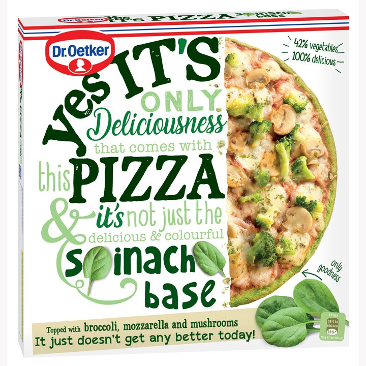 Yes It's Pizza Espinacas Dr.Oetker