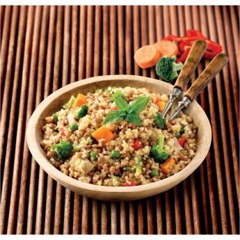 Salteado de quinoa con verduras
