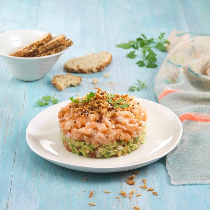 Tàrtar de salmó amb guacamole