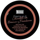 Tarrina chocolate frambuesa y brownie Premium