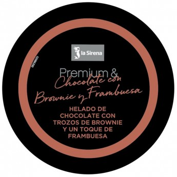 Tarrina chocolate frambuesa y brownie Premium