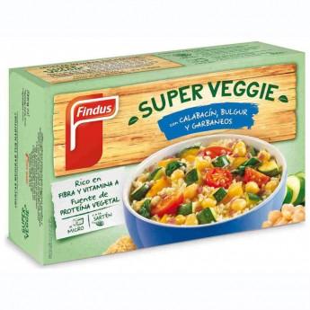 Super veggie carbassó, bulgur, cigrons Findus