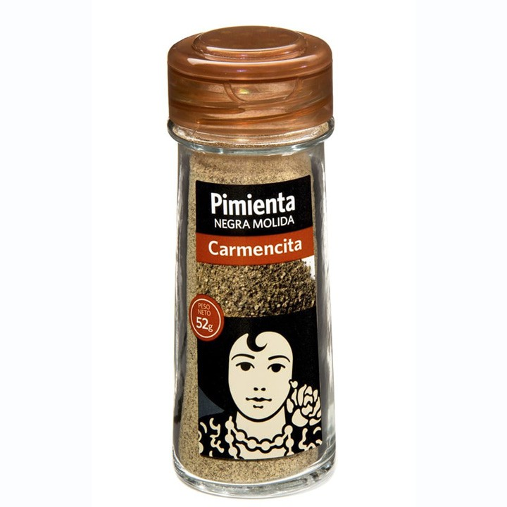 Pimienta negra molida Carmencita