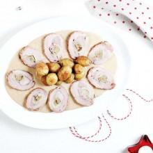 Filet de porc farcit de paté