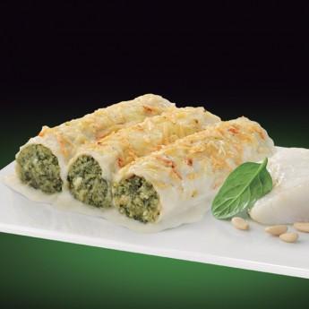 Canelons bacallà amb espinacas Premium