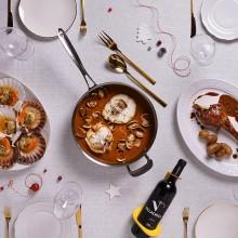 Nadal de cinema amb mariscs, cassoles i carns al forn