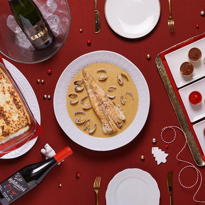 Navidad de cine de crujientes, rellenos y pescados en salsa