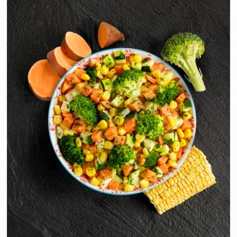 Mezcla verduras con boniato