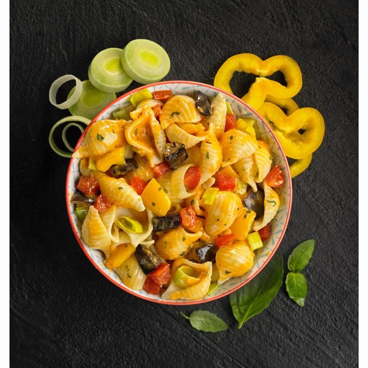 Pasta con verduras italianas