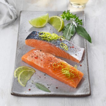 Lomos de salmón Atlántico con piel
