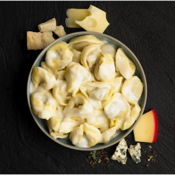 Capelletti amb bolets i salsa 4 formatges