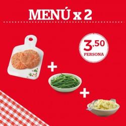 Menú para 2 ¡SOLO POR 7€!