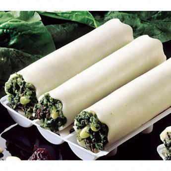 Canelones de espinacas y piñones s/bechamel 3 u