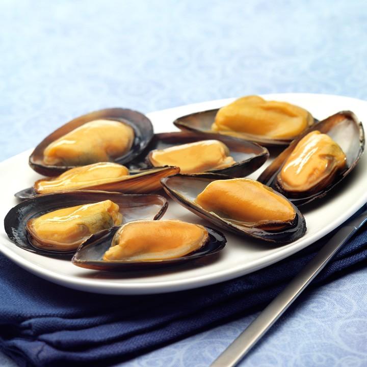 Mejillon media concha cocido grande gallego