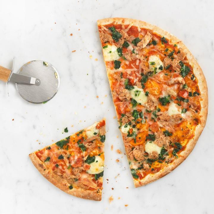 Pizza La Súper fina atún y espinacas
