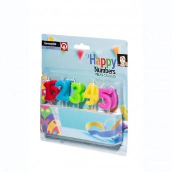 Espelmes Happy number 10