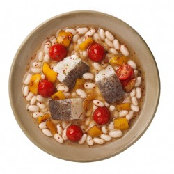 Bacallà guisat amb mongetes