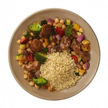 Tajine de pavo, quinoa y mijo