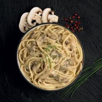 Fettuccini con setas