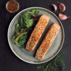Lomos salmón ajo y hierbas provenzales