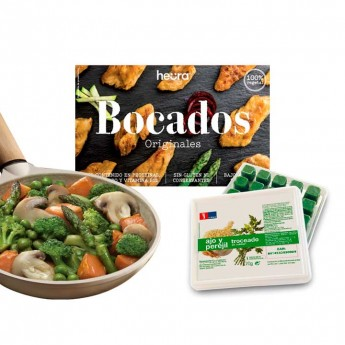 BOCADOS HEURA ORIGINALES CON VERDURAS ASADAS