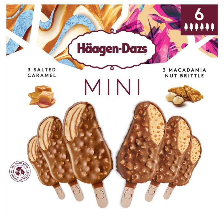 Minibombón caramel&macadamia H.Dazs