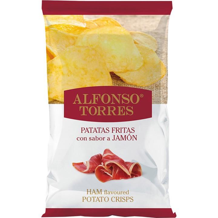 Patata frita jamón
