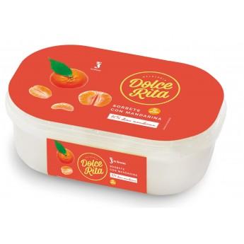 Terrina gelat sorbet de mandarina