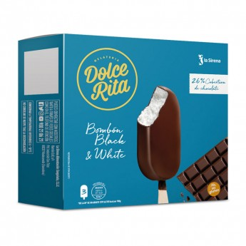 Bombó nata i xocolata negra