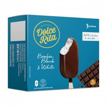 Bombón nata y chocolate negro