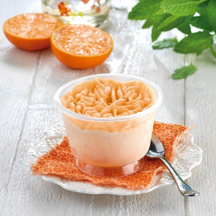 Copa gelada de mandarina