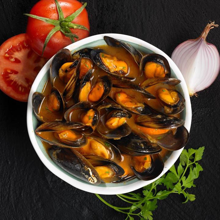 Musclos amb salsa marinera