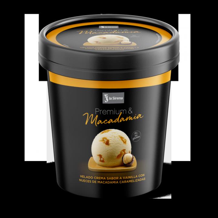 Tarrina vainilla/macadamia Premium