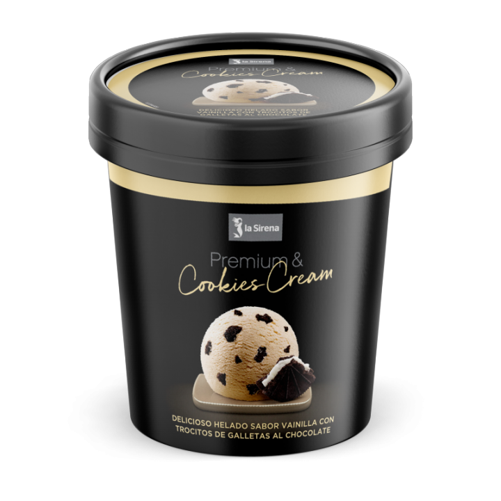 Terrina de vainilla i cookies Premium