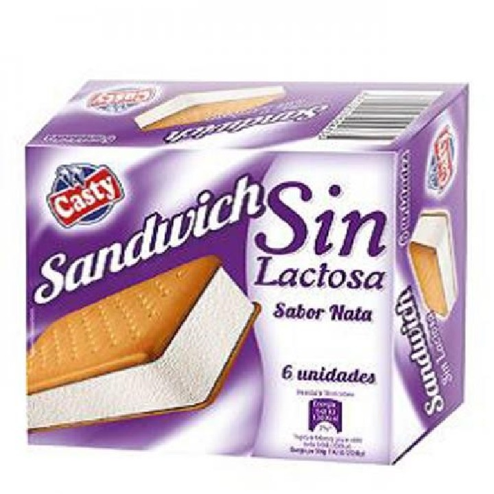Sandwich nata sin lactosa
