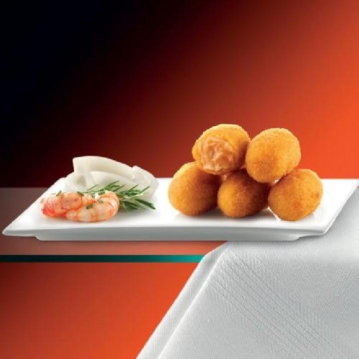 Mini croquetas de marisco Premium