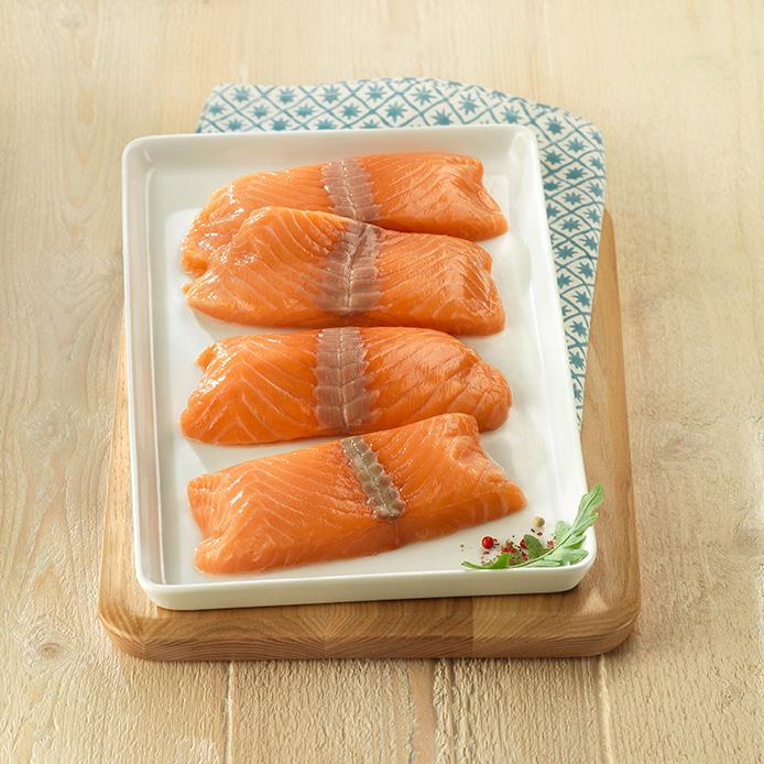 El salmón noruego, que es muy apreciado por su frescura, sabor y calidad.