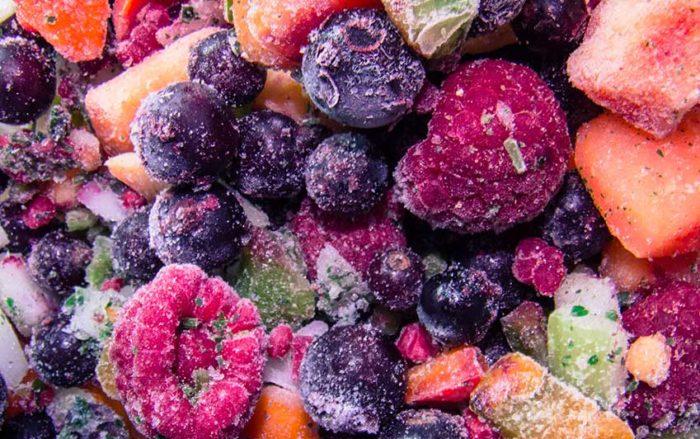 El ultracongelado permite conservar las propiedades de las frutas y verduras.